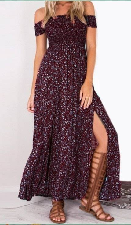 Strapless Beach Summer Bohemian Maxi Dress(Plus Size)