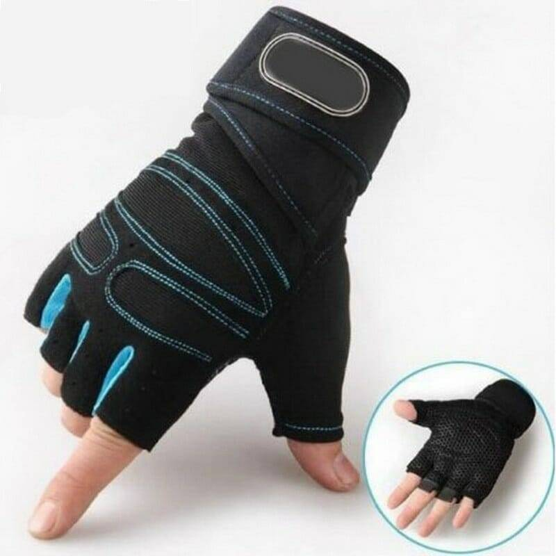 Gym Gloves Men Women Weight Workout Training Body Building Cycling With Strap UK